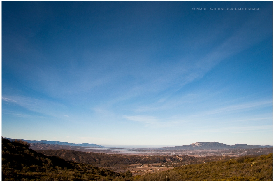 View from the bench over the Antelope Valley and town of Anza, CA